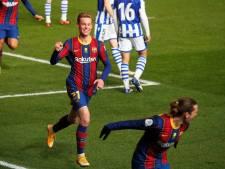 FC Barcelona naar finale Spaanse Supercup na hoofdrol De Jong: kopgoal, hands en misser