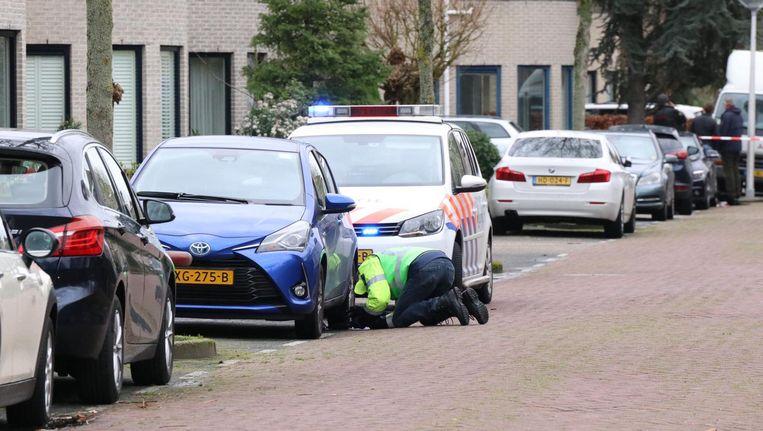 De politie zoekt getuigen van de schietpartij op 16 maart in Amstelveen, waarbij twee personen werden geraakt Beeld ANP