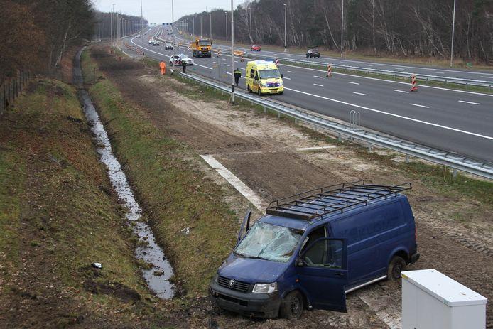 Zondagochtend was er een ongeval op de A1 bij Bornerbroek