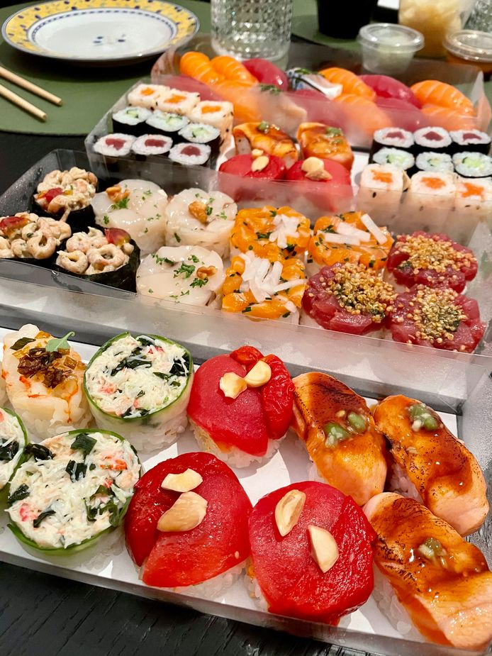 De sushi van Ko'uzi zijn kleine kunstwerkjes.