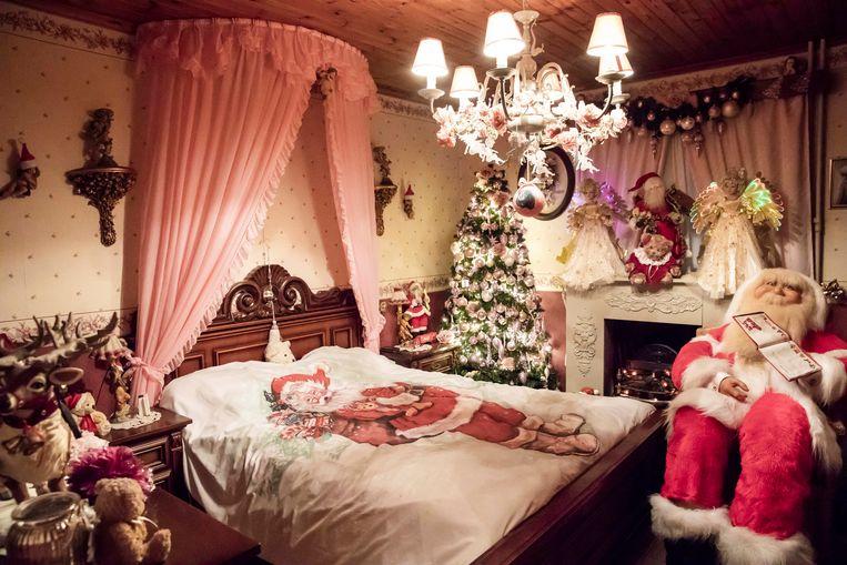 Het bed van de kerstman