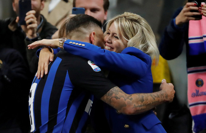 Mauro en Wanda Icardi.