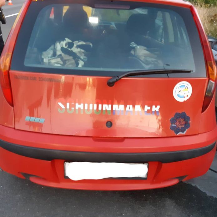 De auto van de 42-jarige Hongaar.