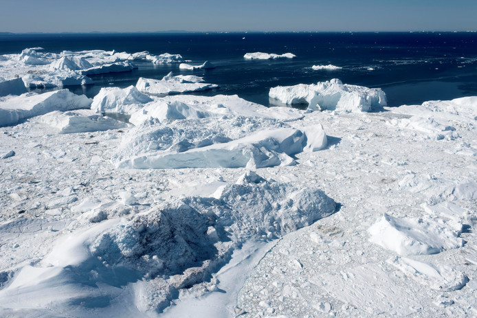 Een fjord in Groenland, dat op de werelderfgoedlijst van UNESCO staat.