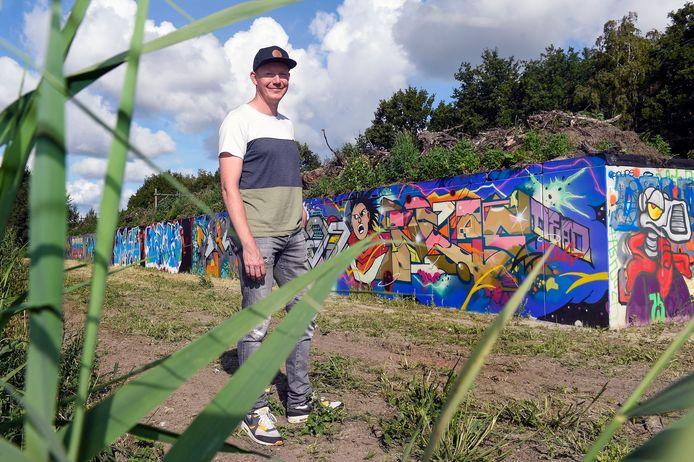 Mervyn van der Meij heeft ervoor gezorgd dat er weer een legale graffitimuur in Bergen op Zoom is