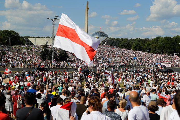 Sinds de uitslag van de verkiezingen op 9 augustus zijn er in Belarus massale demonstraties, waarbij om het vertrek van Loekasjenko wordt geroepen.