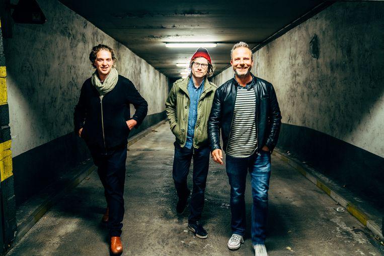 Van links: Niels Van Heertum, Fulco Ottervanger en Teun Verbruggen.'Het blijft knokken, voor de héle scene.'  Beeld Thomas Sweertvaegher
