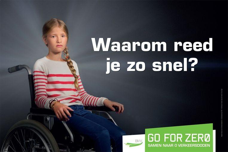Voorbeeld uit de harde campagne in België die wordt gestopt. Het schokeffect zou zijn uitgewerkt. Beeld