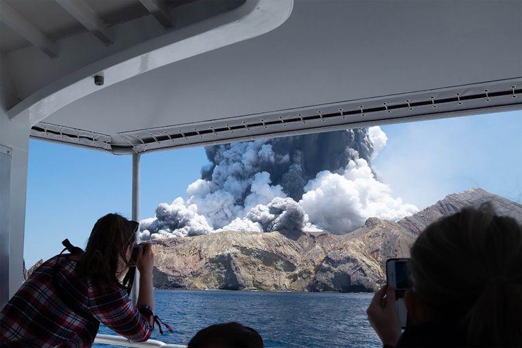 De Maori-naam voor White Island is Whakaari. Het is de actiefste vulkaan van Nieuw-Zeeland en heeft een beschermde status.  Beeld AFP