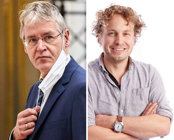 Minister Arie Slob (links) trok zijn keutel in, zag columnist Niels Herijgens, maar de boodschap dat zo'n school anti-homo-eisen mocht stellen, had al geklonken.