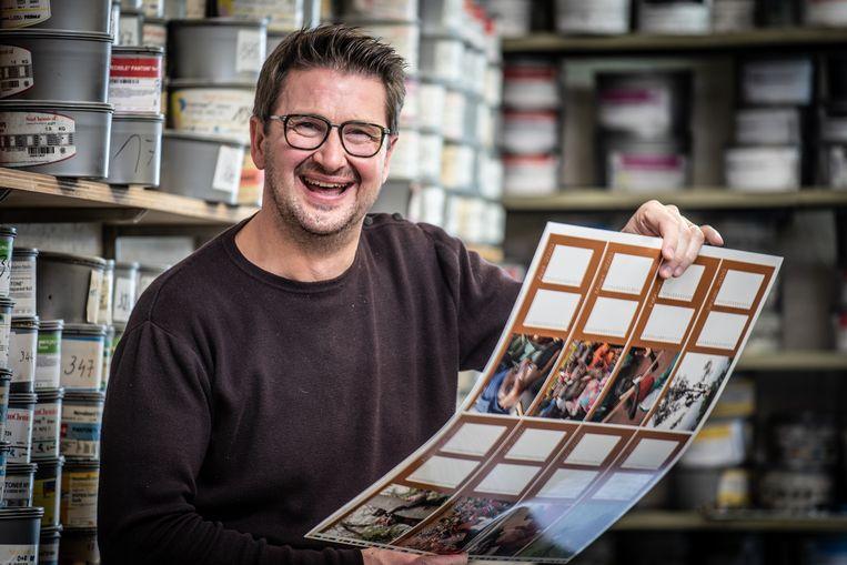 Donaat De Riemaeker in zijn drukkerij.