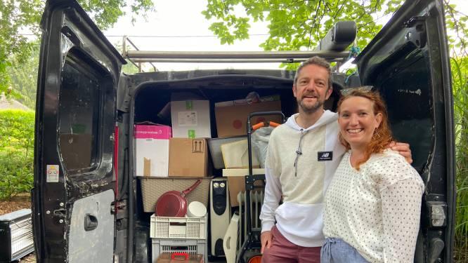 Vakantie opgeofferd voor noodhulp: koppel rijdt voor derde keer naar Wallonië met ingezamelde spullen