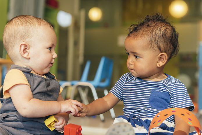 Kinderen spelen op de crèche, foto ter illustratie.