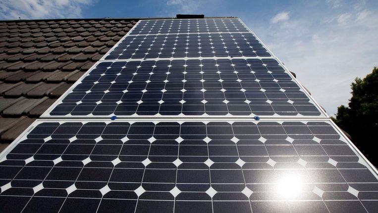 Particuliere initiatieven van zonne-energie. Beeld anp