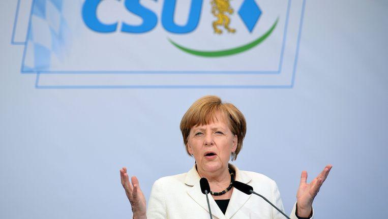 De Duitse bondskanselier Angela Merkel. Beeld EPA