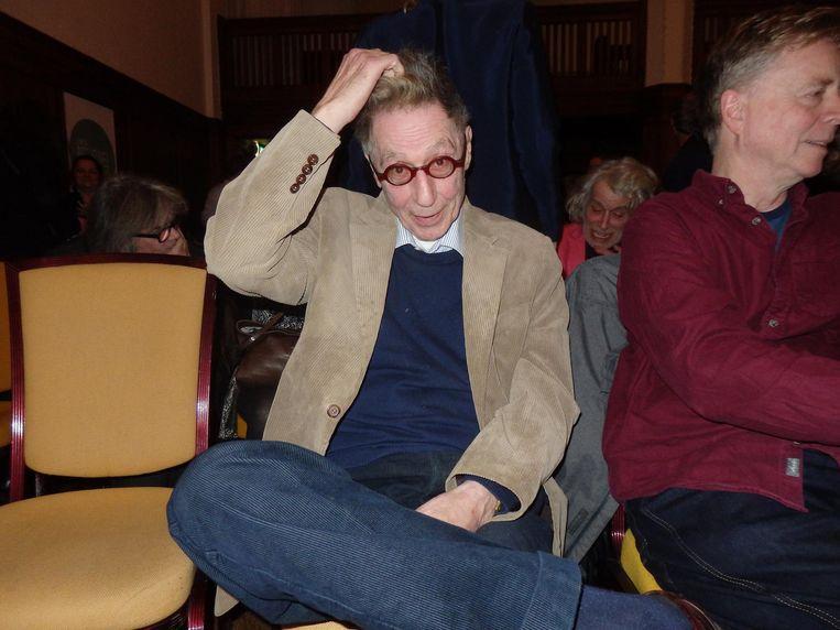 Naamgever Maarten Biesheuvel. Johan Cruijff in een rolstoel Beeld Schuim