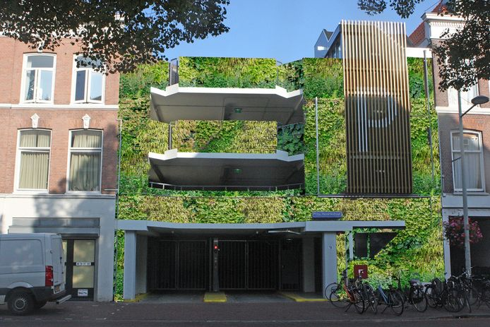 Het geld zou gebruikt worden om de wijkstallingsgarage in het Zeeheldenkwartier te verduurzamen, zoals hier op dit plaatje. Maar dat bleek later niet meer te mogen van de gemeente.