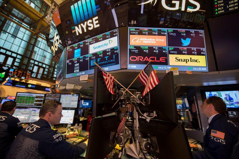 Dow Jones. Beeld AFP