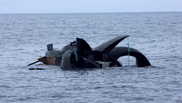 De Ady Gil is na een aanvaring met een Japanse walvisvaarder in de Antarctische Oceaan gezonken. Foto EPA Beeld EPA