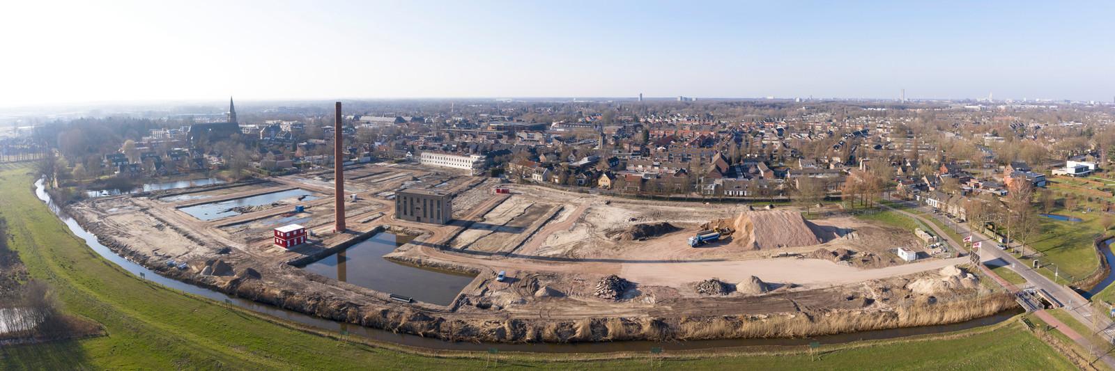 Zuidrand in aanbouw, hier het deel van het oude fabrieksterrein van Van Besouw.