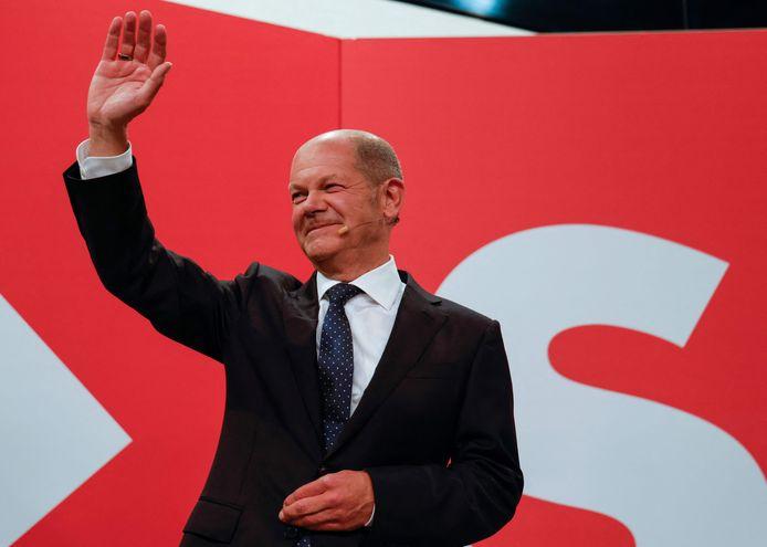 Olaf Scholz, de leider van de SPD.