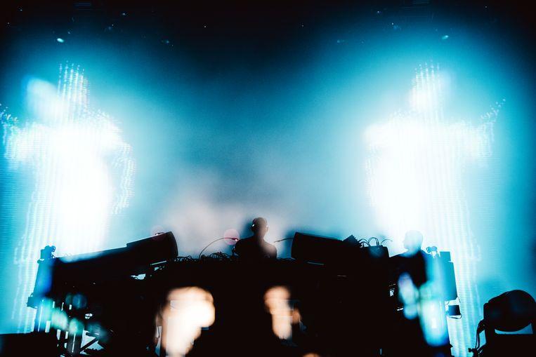 Chemical Brothers op Dour. Beeld Francis Vanhee