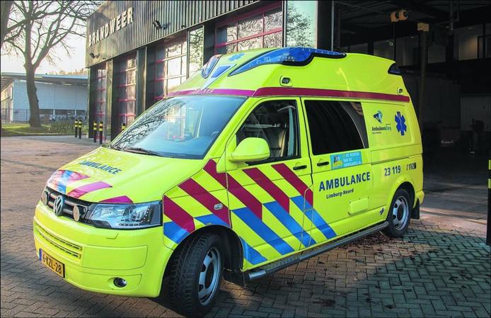 De ambulance. Foto Theo Peeters