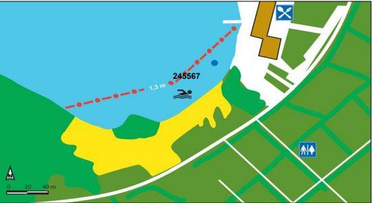 Overzicht van zwemplas zone 2 Beekse Bergen.