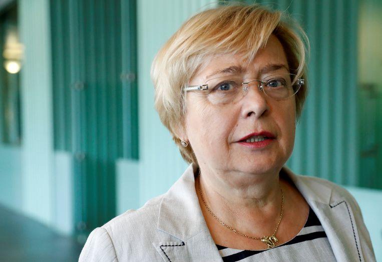 Voorzitter van het Poolse Hooggerechtshof Malgorzata Gersdorf op 13 augustus 2018. Beeld REUTERS
