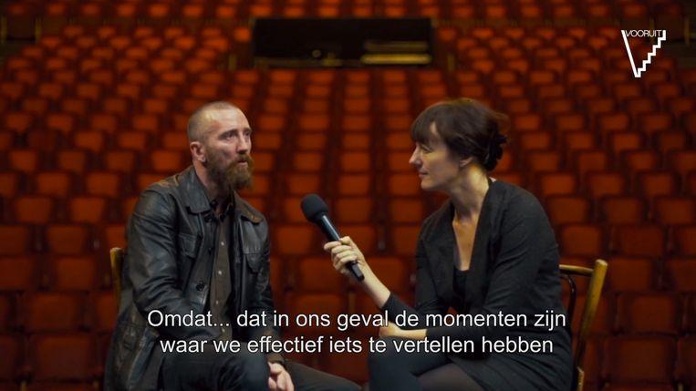 Curators van dienst Colin H. Van Eeckhout (Amenra) en Barbara Raes van werkplaats Beyond The Spoken. Beeld rv