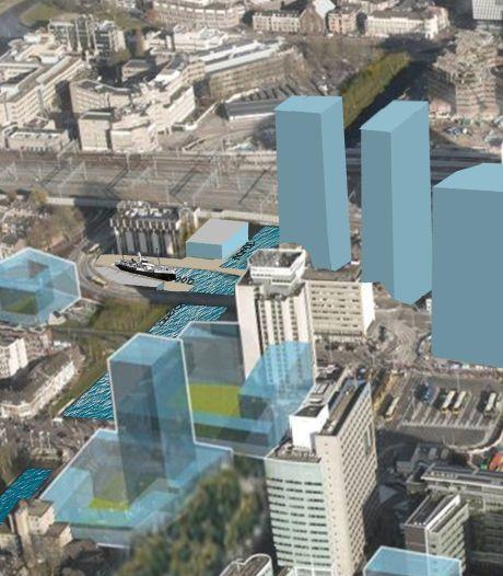 Haventje of stadsstrand in het 'vergeten hoekje' bij Park Plaza Hotel? Het zijn een paar wilde ideeën van een Utrechtse architect
