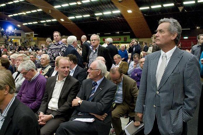 Jan van der Sloot (rechts) afgelopen oktober tijdens het drukbezochte CDA-congres in de Rijnhal. Foto: Marina Popova