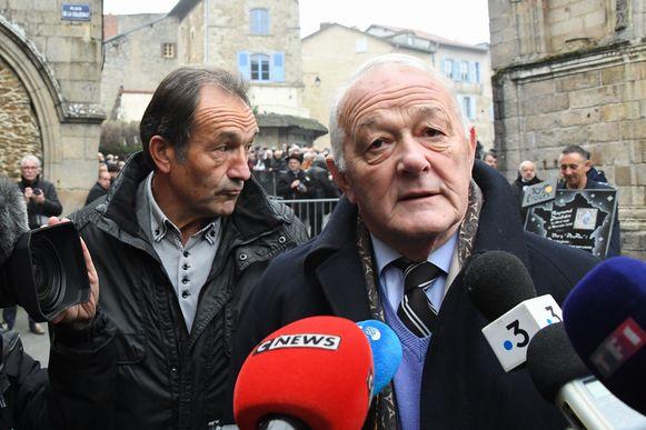 Voormalig koersdirecteur van de Tour: Jean-Marie Leblanc (rechts).