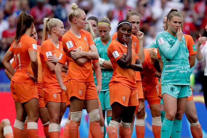 De Leeuwinnen tijdens de WK-finale tegen het team van de VS.