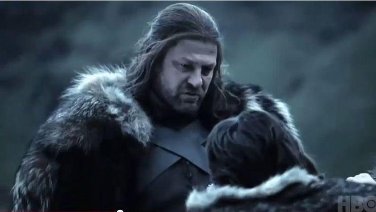 Scene uit de serie Game of Thrones Beeld null