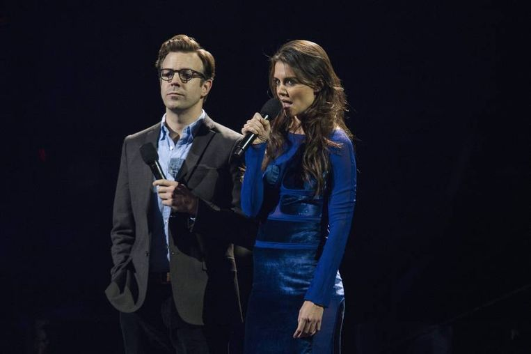Acteurs Jason Sudeikis en Katie Holmes tekenden ook present. Beeld REUTERS