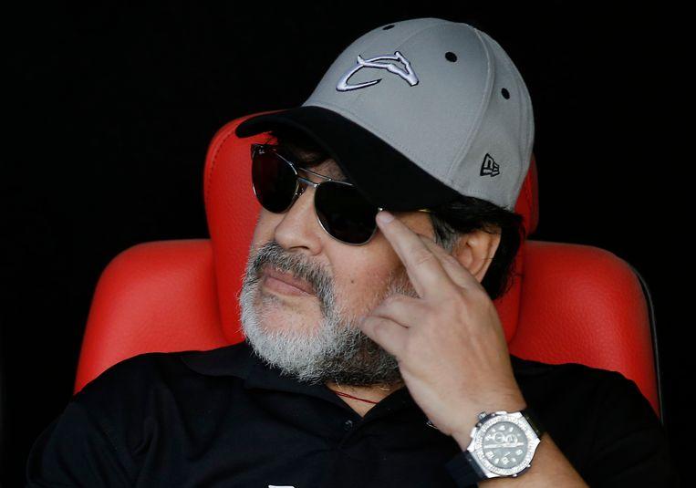 Maradona in 2019, als coach in de Mexicaanse competitie. Beeld AP