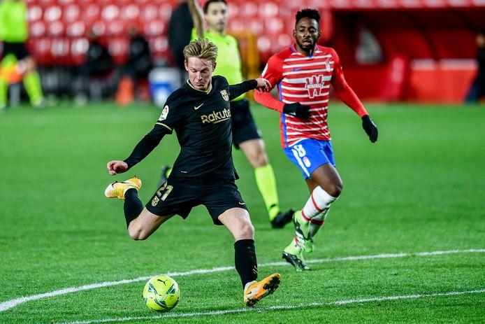 Frenkie de Jong was deze maand bij vier doelpunten betrokken in La Liga voor FC Barcelona.