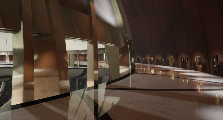 Impressie van het Kremer Museum, dat alleen in virtual reality bestaat. Beeld Kremer Collection