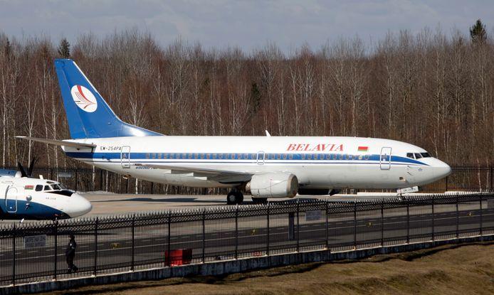 Een vliegtuig van het Wit-Russische Belavia (archiefbeeld).