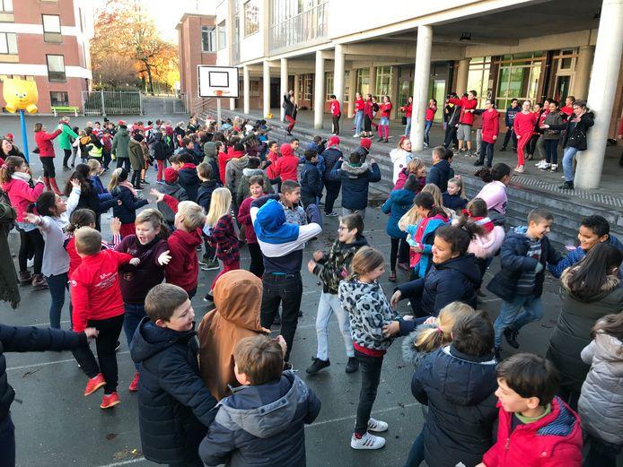 Ook op de lagere school van Don Bosco in Halle werd Rode Neuzendag gevierd.