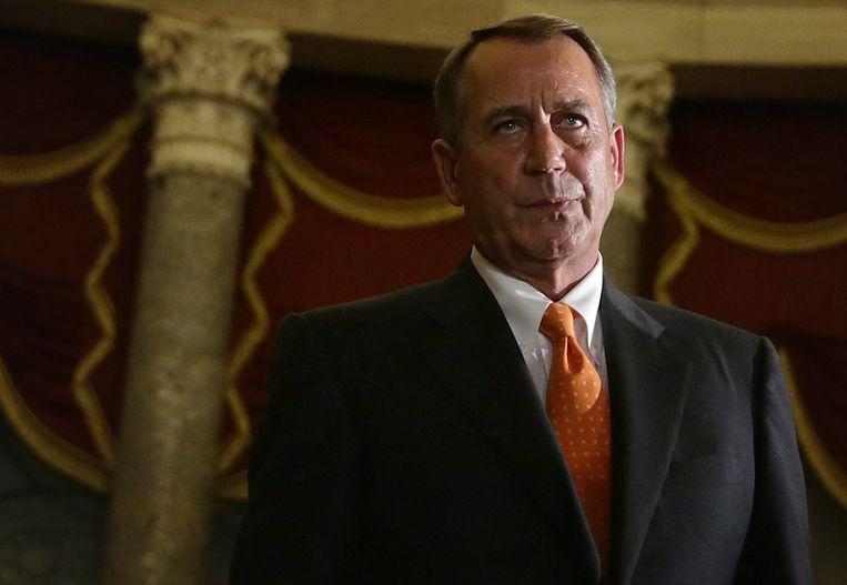 De Republikeinse voorzitter van het Huis, John Boehner. Beeld getty