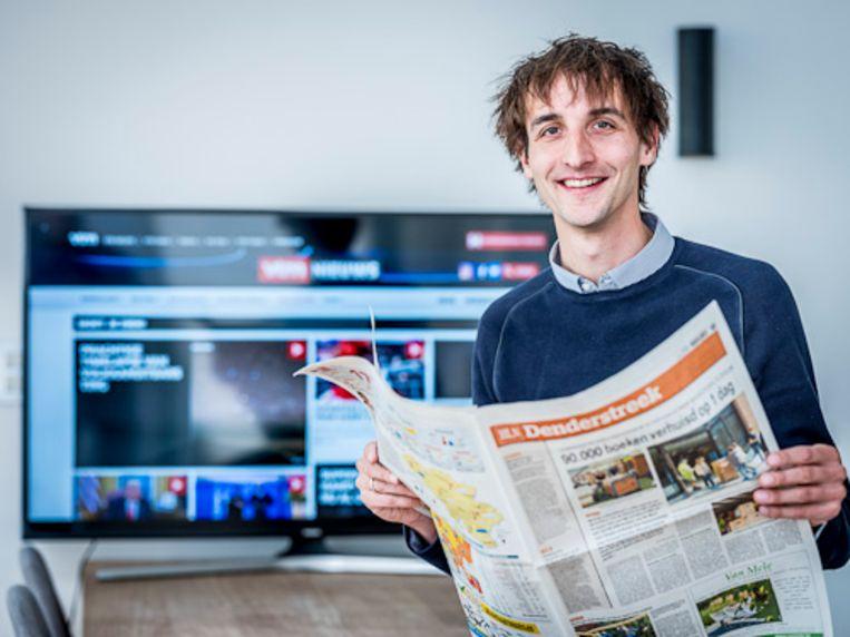 De Swaef als regiohoofdredacteur bij Het Laatste Nieuws. Beeld BELGA