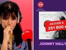 Un Disque d'Or de Johnny adjugé pour une somme record, les animateurs de RTL en larmes sur le plateau
