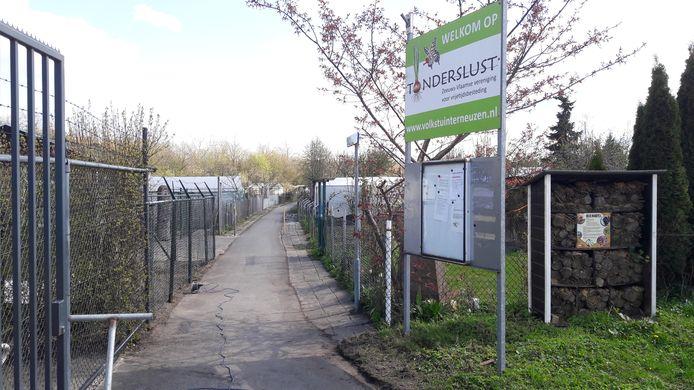 Entree volkstuincomplex Tuinderslust in het Terneuzense buurtschap Driewegen.