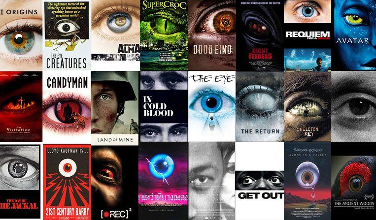 Selectie uit Letterboxdlijst 'The Eyes Have It! (Movie Posters)'. Beeld