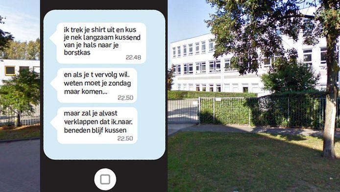 De 29-jarige lerares geschiedenis van het ds. Pierson College in Den Bosch is ontslagen voor het telefonisch versturen van pikante berichten aan leerlingen