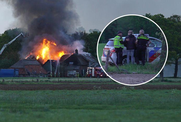 Henry de W. werd opgepakt tijdens de brand in een boerderij in Harfsen.