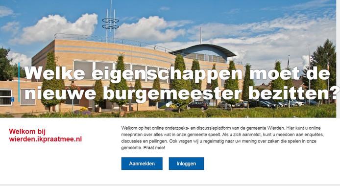 Het digitale inspraakplatform van de gemeente Wierden.