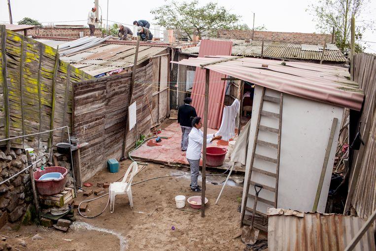 Elsa Casimero woont in Pachacútec een van de gevaarlijkste sloppenwijken van Lima.  Beeld Yvonne Brandwijk